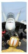 An Aircraft Director Signals Beach Towel by Stocktrek Images