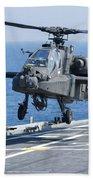An Army Ah-64d Apache Helicopter Beach Towel