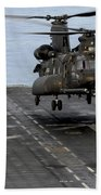 An Army Mh-47g Chinook Conducts Deck Beach Towel