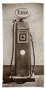 An Esso Petrol Pump From The First Half Beach Towel