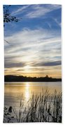 An Evening In Lakes Country Beach Towel