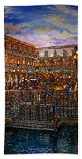 An Evening In Venice Beach Towel by David Lee Thompson