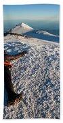 An Exhausted Climber Lies On The Summit Beach Sheet