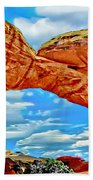 An Impression Of Arches National Park Beach Towel