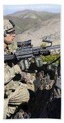 An Infantryman Provides Overwatch Beach Towel