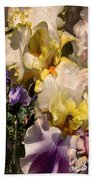 An Iris Surprise Right Beach Towel