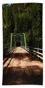 An Old Bridge Crossing The Seleway River  Beach Towel