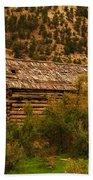 An Old Cabin In Utah Beach Towel