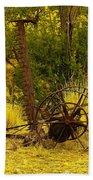 An Old Grass Cutter In Lincoln City New Mexico Beach Towel by Jeff Swan