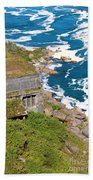 An Old  Hydroelectric Generating Station Beach Towel