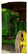An Old Restored John Deere Beach Towel