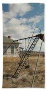 An Old School Near Miles City Montana Beach Towel by Jeff Swan