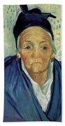 An Old Woman Of Arles Beach Towel