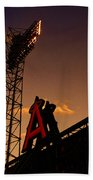 Anaheim Angels Sunset  Beach Towel
