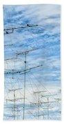 Analog Television Aerials Beach Towel