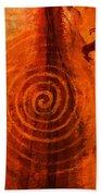 Anasazi Spirals  Beach Towel