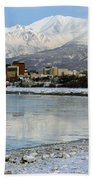 Anchorage Cityscape Beach Towel