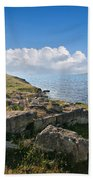 Ancient Archaeological Site On The Coast Of Crimea Ukraine Beach Towel