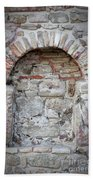 Ancient Bricked Up Window  Beach Towel