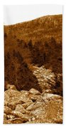 Ancient Brook - Sepia Tones Beach Towel