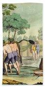 Ancient Celts Or Gauls Sacrificing Beach Towel