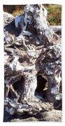 Ancient Gnarled Driftwood - Oregon Beach Beach Towel