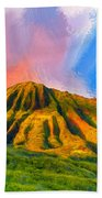 Ancient Hawaii Lava Flow Beach Towel