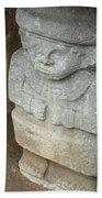 Ancient Pre-columbian Statue Beach Sheet