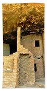 Ancient Pueblo Dwelling Ruins Beach Towel