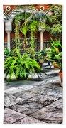 Andalusian Courtyard In Sevilla Spain Beach Towel