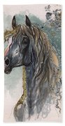 Andalusian Horse 2014 11 11 Beach Towel