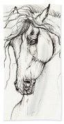Andalusian Horse Drawing 04 11 2013 Beach Towel