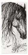 Andalusian Horse Drawing 2 Beach Towel