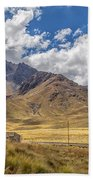 Andes Mountains - Peru Beach Towel