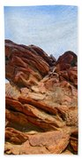 Andreas Canyon Beach Towel