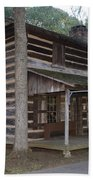 Andrew Logan Log Cabin Ninety Six National Historic Site Beach Towel