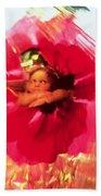 Angel And Poppy Beach Towel by Katherine Fawssett