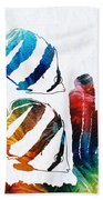 Angel Fish Art - Little Angels 2 - By Sharon Cummings  Beach Sheet