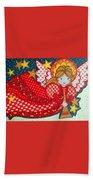Angel In Red Beach Towel