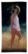 Angel In The Grasses 3 Beach Towel