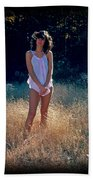 Angel In The Grasses Beach Towel