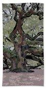 Angel Oak Digital Art Beach Towel