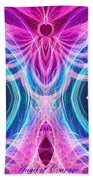 Angel Of Courage Beach Towel