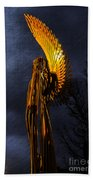 Angel Of The Morning Textured Beach Towel
