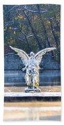 Angel On A Misty Lake  Beach Towel