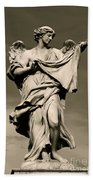 Angel Statue Beach Towel
