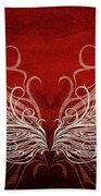 Angel Wings Crimson Beach Towel