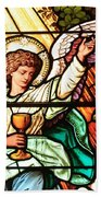 Angel With A Chalice Beach Towel