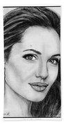 Angelina Jolie In 2005 Beach Towel by J McCombie