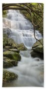 Angels At Benton Waterfall Beach Towel by Debra and Dave Vanderlaan